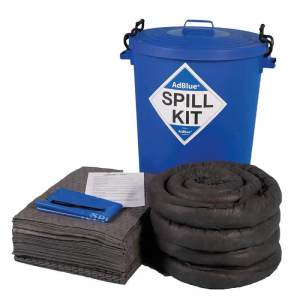 100 Litre AdBlue Spill Kit In Blue Round Bin