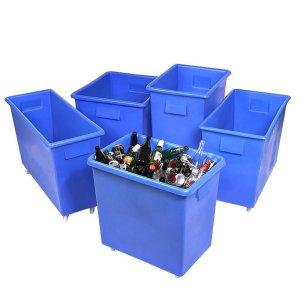 150ltr Mobile Bar Trolleys polyethylene 45kg capacity 750 x 615 x 455