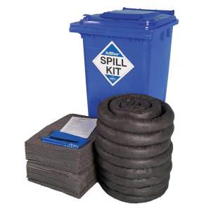 240 Litre AdBlue Spill Kit In Blue Wheelie Bin