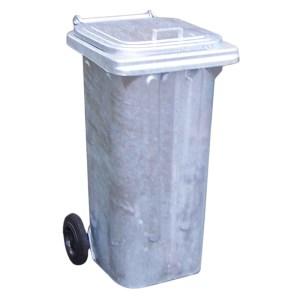 240L Galvanised Steel Wheelie bin