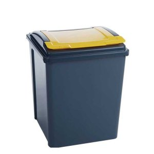 25 Litre Recycling Bin With Red Lid