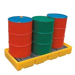 3 Drum Storage Spill Containment Pallets