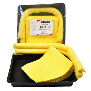 38 Litre Chemical Spill Kit with 52cm x 70cm flexi tray