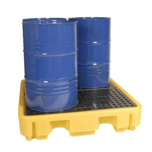 4 Drum Spill Pallet Yellow 245 litre capacity