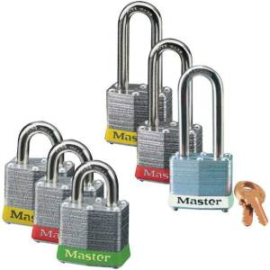 40mm Steel Body Master Lock Padlocks with 7mm Dia x 51mm Shackle