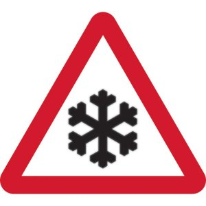 750mm Tri. Temporary Sign & Frame - Risk of Ice