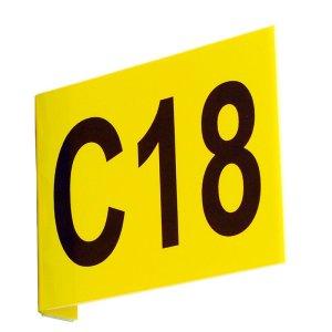 Aisle Marker Signs C/W Digits Flat 220h x 450w inc 2 Digits