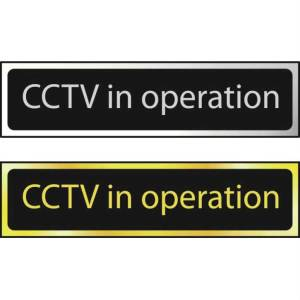 CCTV In Operation - Sign CHR (200 x 50mm)