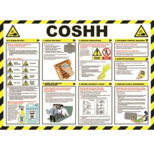 COSHH Safety Poster - Sign Laminate (590 x 420mm)