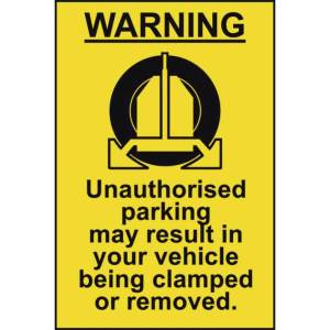 Clamping Warning Sign - Sign - PVC (200 x 300mm)