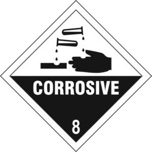 Corrosive 8 - Self Adhesive Sticky Sign Diamond (100 x 100mm)