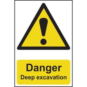 Danger Deep Excavation Sign - RPVC (400 x 600mm)
