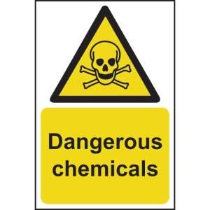 Dangerous Chemicals Sign - RPVC (200 x 300mm)