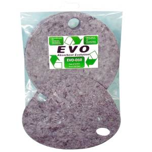 EVO Oil & Fuel absorbent drum topper recycled spill pads, pack of 5