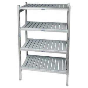 Eko fit Aluminium Shelving - 4 Shelf levels 450d x 1220 Starter Bay