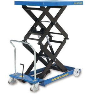 Electric Mobile Double Scissor Lift Table 300kg cap