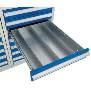 Euroslide 600 Cabinet Drawer Dividers - 16 compartments - 100mm high