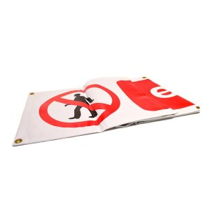 Exit Sign PVC Scaffold Banner