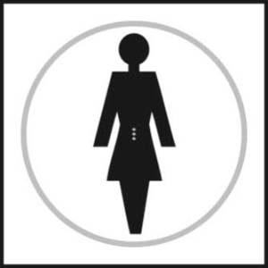 Female Toilet Braille Sign With Symbol