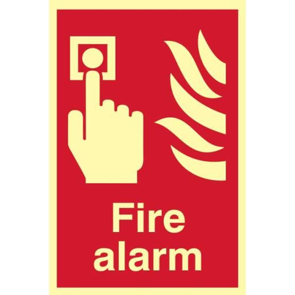 Fire Alarm Sign - PHS (200 x 300mm)