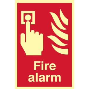 Fire Alarm Sign - PHS (200 x 300mm)