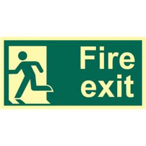 Fire Exit Man Left Sign - PHO (300 x 150mm)