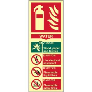 Fire Extinguisher: Water Sign - PHO (82mm x 202mm)