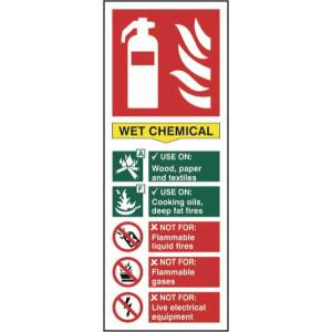 Fire Extinguisher: Wet Chemical - Sign - PVC (82 x 202mm)