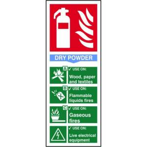 Fire extinguisher: Dry power - Sign - PVC (82 x 202mm)