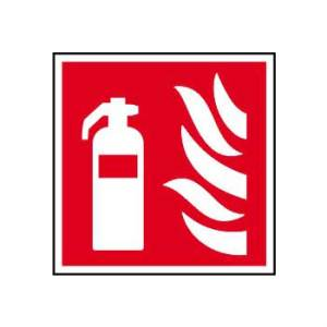 Fire extinguisher symbol - Self Adhesive Sticky Sign (200 x 200mm)
