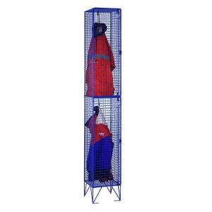 Full Height Wire Mesh Lockers with 2 Doors - Nest of 2 305w x 305d