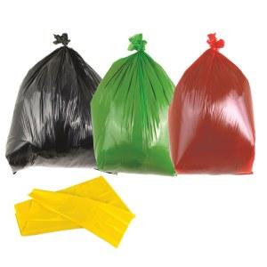 Green Medium Duty Bin Bags 90L - Box of 200 bags