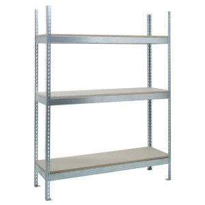 H/D Galvanised Shelving - 3 Chipboard Shelves 1981h x 1500w x 600d
