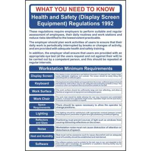 Health & Safety (Display Screen Equipment) Regulations Sign