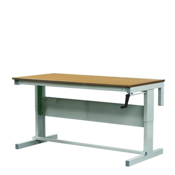Height Adjustable Workbenches with Hardwood Top 1500w x 750d Bench