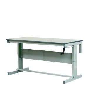 Height Adjustable Workbenches with Laminate Top 1500w x 600d Bench