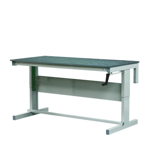 Height Adjustable Workbenches with Lino Top 1500w x 600d Bench