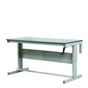 Height Adjustable Workbenches with MFC Top 1500w x 600d Bench
