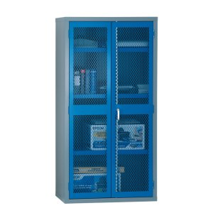 Hinged Mesh Door Security Cabinets 1830 high x 915 wide + L Panel