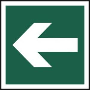 Horizonal arrow symbol - Self Adhesive Sticky Sign (200 x 200mm)