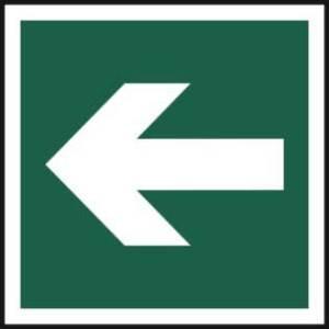 Horizonal arrow symbol - Sign - PVC (200 x 200mm)