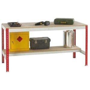 Just Workbench with Chipboard Top & Half Under shelf 1800 w x 900 d