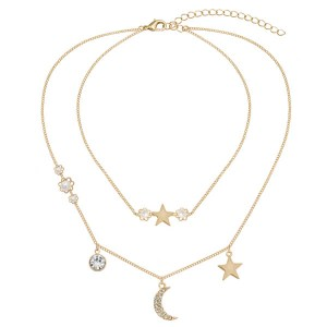 Kasara Layered Celestial Pave and Pearl Necklace