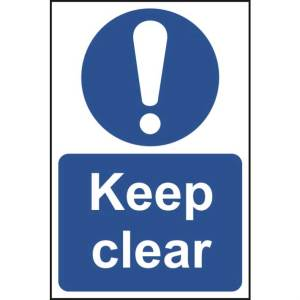 Keep Clear Sign - RPVC (400 x 600mm)