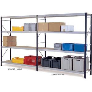 Longspan Shelving Extension Bays 1800 x 1800 x 600 3 Chipboard Shelves