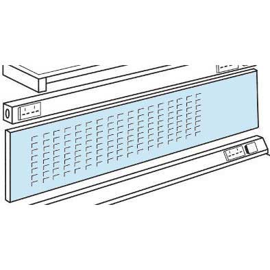 Louvre Panel / Pinboard (zinc) 450h for ESD Workbench 1200w