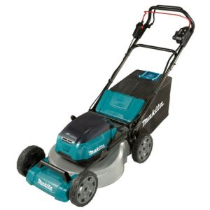 Makita Makita DLM462PG2 Brushless Self-Propelled Steel Deck Lawn Mower 46cm (with 2 x 6.0Ah Batteries and DC18RD Twin Port Charger)
