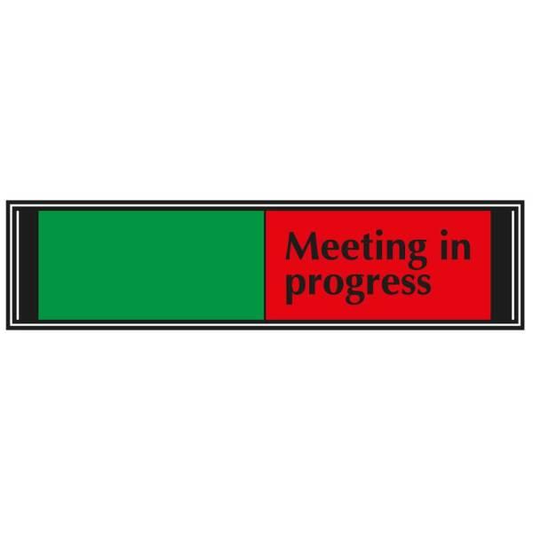 Meeting in Progress Sliding Sign for Doors