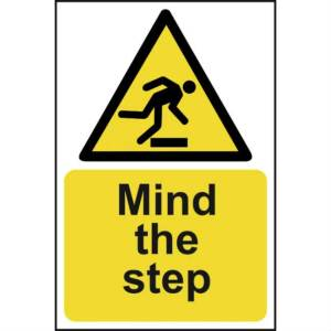 Mind The Step - Self Adhesive Sticky Sign (200 x 300mm)