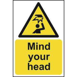 Mind your head - Sign - PVC (200 x 300mm)